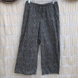 Eileen Fisher Organic Cotton Patterned Easy Pants